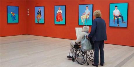英国艺术家霍克尼成艺术品市场新宠